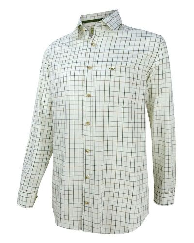 Hoggs of Fife Balmoral Shirt: Navy/Wine